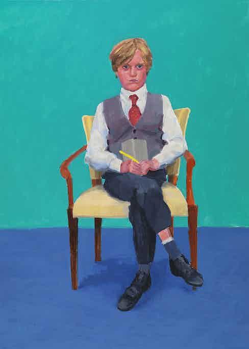 "David Hockney ""Rufus Hale, 23-25 November"" 2015 Acrylic on canvas 48 x 36"" © David Hockney Photo Credit: Richard Schmidt"