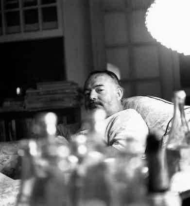 An undated portrait of Ernest Hemingway in Cuba.