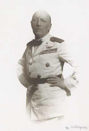 Portrait of Gabriele D'Annunzio in his aviator's uniform, 1929. Image by © Alinari Archives/Corbis.