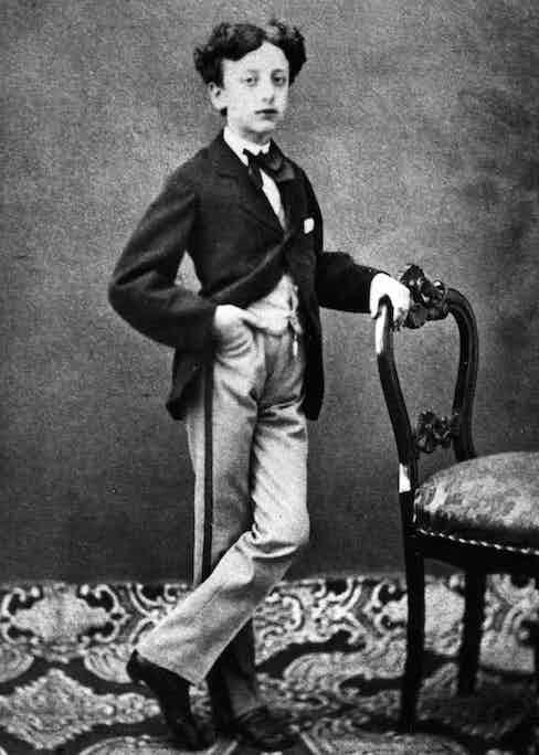 Gabriele D'Annunzio, age 7.