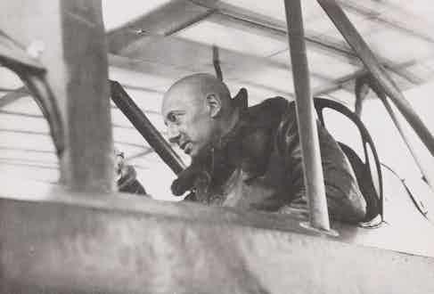 Gabriele D'Annunzio preparing to pilot a flight over Vienna in 1918. Image by © Alinari Archives/Corbis.