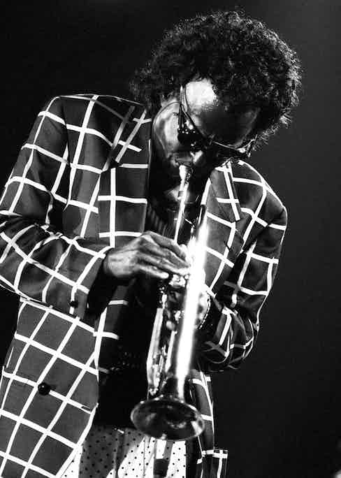Miles Davis performs live on stage at the North Sea Jazz Festival in The Hague, Netherlands, 1991. Photo by Paul Bergen/Redferns.