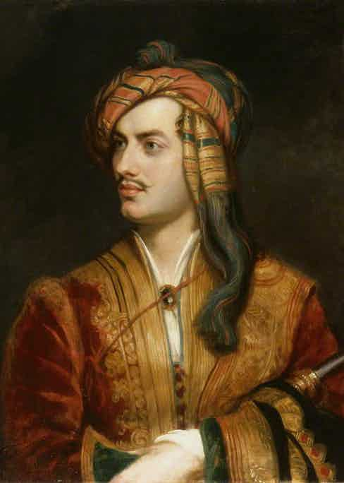 Lord Byron replica by Thomas Phillips, oil on canvas, circa 1835.