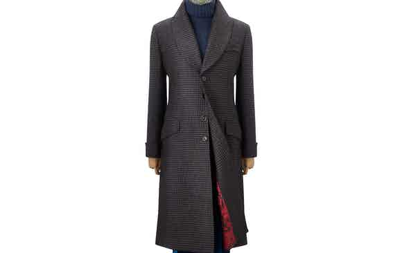 Invest: New & Lingwood Houndstooth Greatcoat