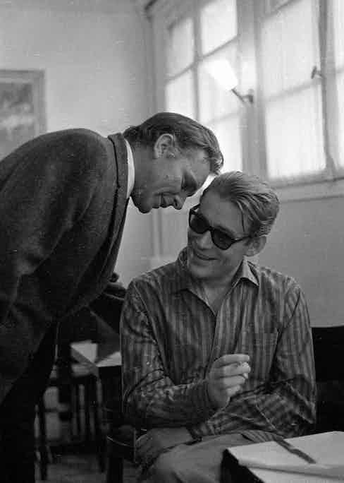 Peter O'Toole and Richard Burton, Paris 1967.