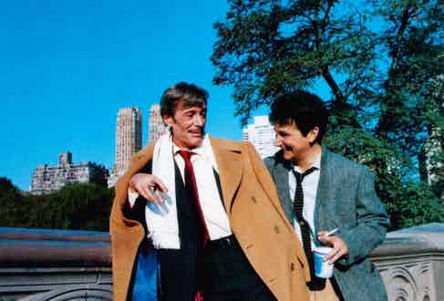 Peter O'Toole and Mark Linn-Baker in 'My Favourite Year', 1982.