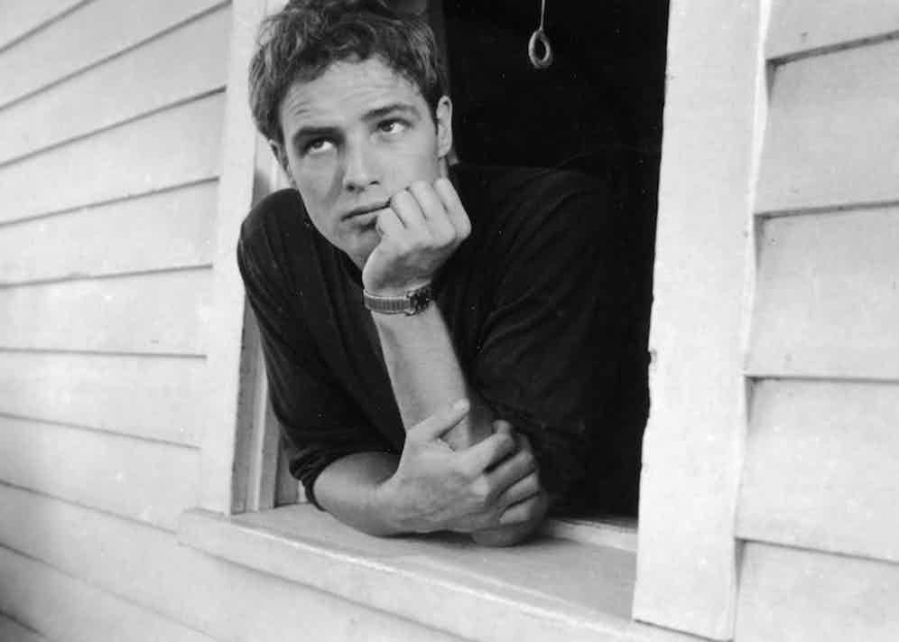 Marlon Brando at his family home in Libertyville, Illinois, 1951. Photo by Art Shay/The Life Images Collection/Getty Images