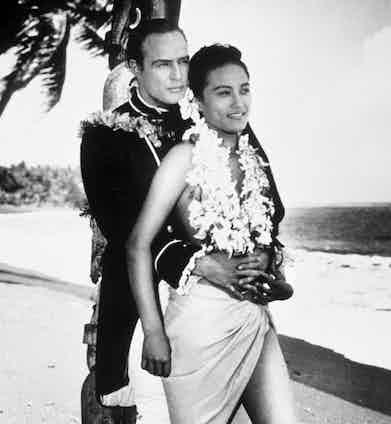 Marlon Brando and Tarita Teriipaia in 'Mutiny on the Bounty'. Photo by REX.