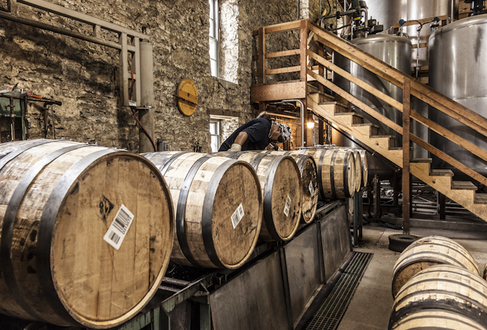Barrels of Woodford Reserve in the bottling room. (Images courtesy of Woodford Reserve)