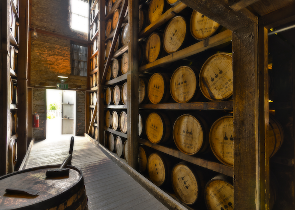 Warehouse at the Woodford Reserve distillery. (Images courtesy of Woodford Reserve)