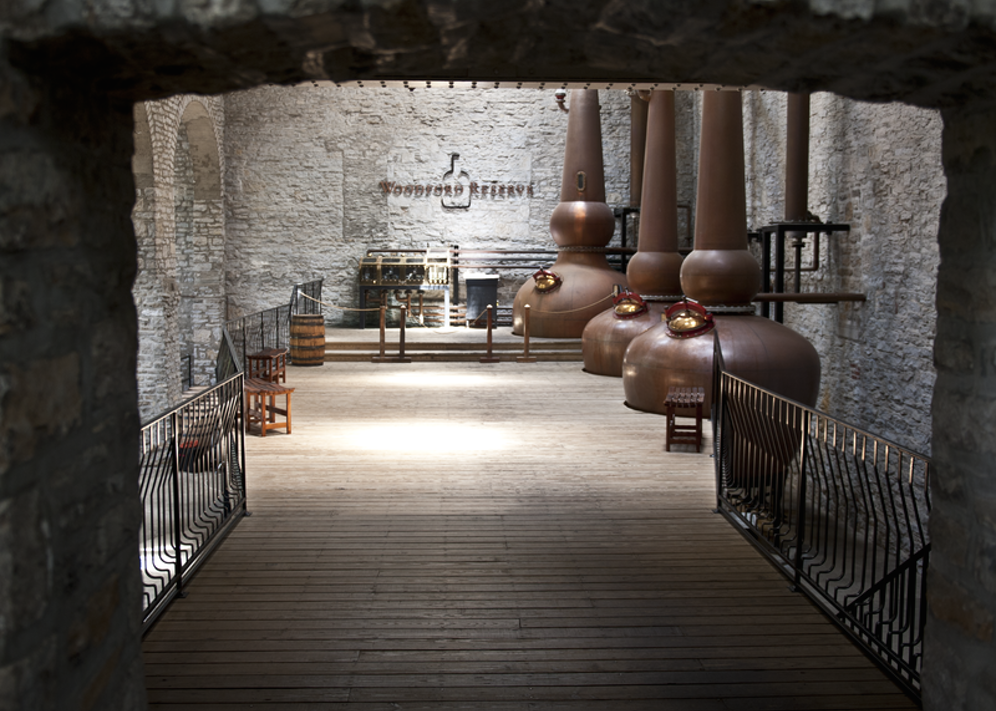 Woodford Reserve's iconic and old-school copper still pots. (Images courtesy of Woodford Reserve)