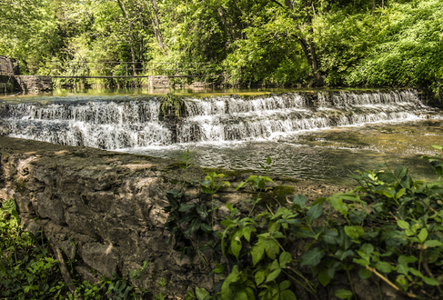 Woodford Reserve's limestone water source, Glenn's Creek, nearby the distillery. (Images courtesy of Woodford Reserve)