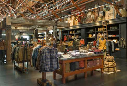 Inside Filson's flagship store in Seattle. (Photo courtesy of Filson)