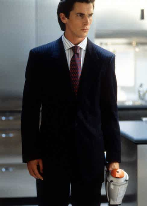Christian Bale in a scene from the film 'American Psycho', 2000. Photo by Lion's Gate/Getty Images.