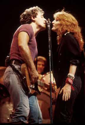 Bruce Springsteen and Patti Scialfa of the E Street Band. Photo by Bob Riha Jr/WireImage.