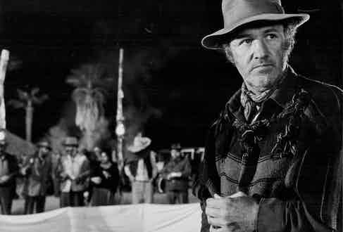 Actor Gene Hackman in a scene from the movie 'Lucky Lady', 1975. Photo by Stanley Bielecki Movie Collection/Getty Images.