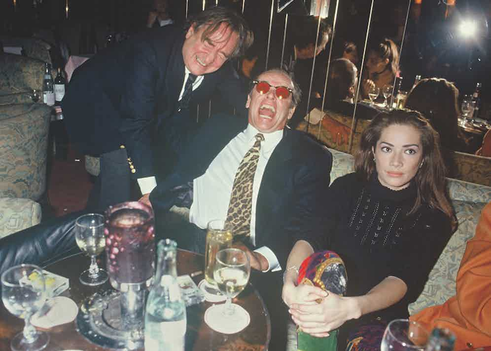 Willy Rizzo and Jack Nicholson in Paris, 1993.