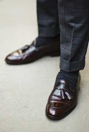 """Turn-ups on trousers are de rigeur for Manolo, """"most men don't recognise the impact of a well-appointed trouser cuff. They enhance the scale."""""""