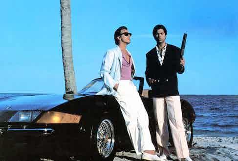Philip Michael Thomas and Don Johnson, Miami Vice 1984-1989. Photo by Universal TV/REX/Shutterstock.