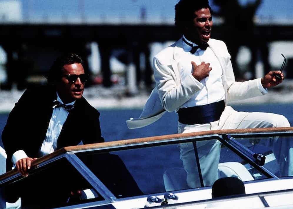Philip Michael Thomas and Don Johnson, Miami Vice 1984-1989. Photo by Universal TV/REX/Shutterstock.