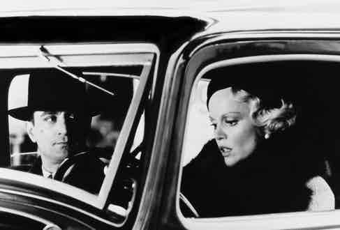 Actor Robert De Niro as Noodles and Tuesday Weld as Carol in the film 'Once Upon a Time in America', 1984. Photo by Warner Bros./Getty Images.
