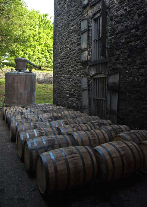 Exterior of the warehouse with one of Woodford Reserve's stills. (Images courtesy of Woodford Reserve)