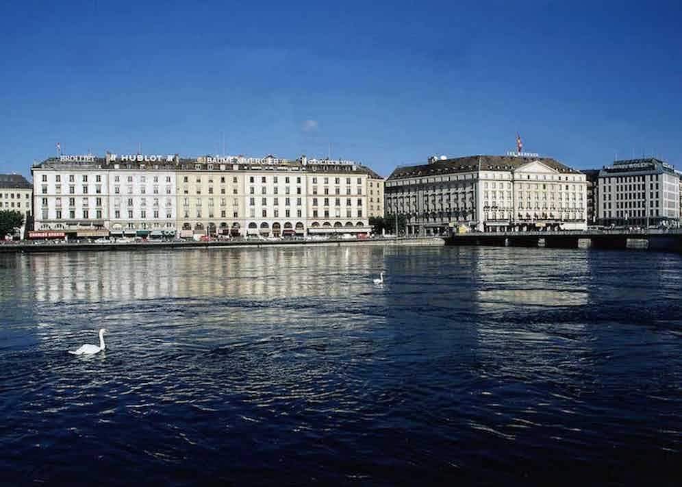 Geneva:: Quai des Bergues, in front of the Rhone (Photo by Merten/ullstein bild via Getty Images).