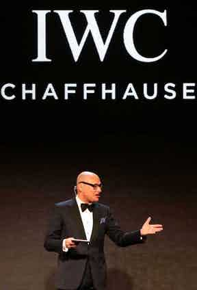 """Beijing, China - April 19: IWC CEO Georges Kern attends the IWC """"For the love of Cinema"""" Gala Dinner at the Beijing International Film Festival, during which the Swiss luxury watch manufacturer launched the Portofino Hand-Wound Eight Days Edition, at Aman at Summer Palace on April 19, 2016 in Beijing, China. Photo by Photopress/IWC/Getty Images)."""