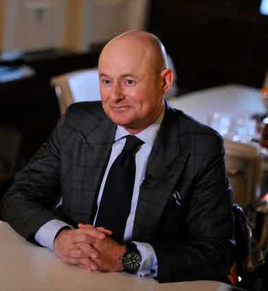 Georges Kern at the IWC booth during the launch of the Pilot's Watches Novelties from the Swiss luxury watch manufacturer IWC Schaffhausen at the Salon International de la Haute Horlogerie (SIHH) 2016 on January 18, 2016 in Geneva, Switzerland. Photo by Photopress/IWC.