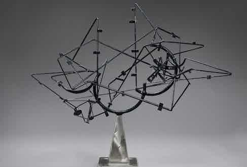 David Smith, Star Cage, 1950. Lent by the Frederick R. Weisman Art Museum, University of Minnesota, Minneapolis.  The John Rood Sculpture Collection.  © Estate of David Smith/DACS, London/VAGA, New York 2016.