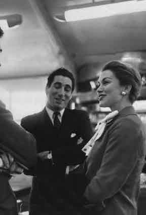 Actress Linda Christian with the Marquis De Portago in the Department Lounge at London Airport.  Photo by Frank Apthorp/ANL/REX/Shutterstock.