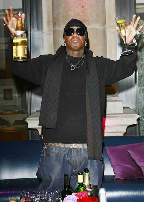 Rapper Birdman aka Cash Money Records Party at The Royal Exchange, London, 2009. Photo by Max Cisotti/REX/Shutterstock.