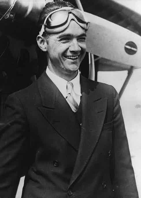 Howard Hughes, eccentric American multi-millionaire industrialist, film director and producer, aviator and record breaker. Photo by Keystone/Getty Images.