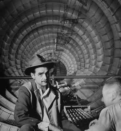 Millionaire Howard Hughes in cockpit of huge sea plane, the Spruce Goose, which he designed and built, circa 1947. Photo by J. R. Eyerman/The LIFE Picture Collection/Getty Images.