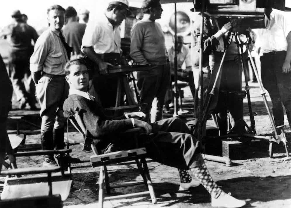 Howard Hughes on the set of Sky Devils, 1932. Photo by CSU Archv/Everett/REX/Shutterstock.