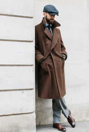 """""""I love bespoke overcoats,"""" says Simon Crompton, """"but if there's ever a case for a ready-made one, it's in a piece that is entirely unstructured, with no canvas and no lining - as this is."""""""