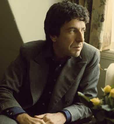 Leonard Cohen, London, June 1974. Photo by Michael Putland/Getty Images.