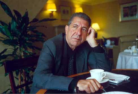 Leonard Cohen, 1994. Photo by Richard Young/REX/Shutterstock.