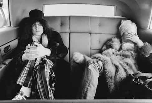 Marc Bolan and wife.