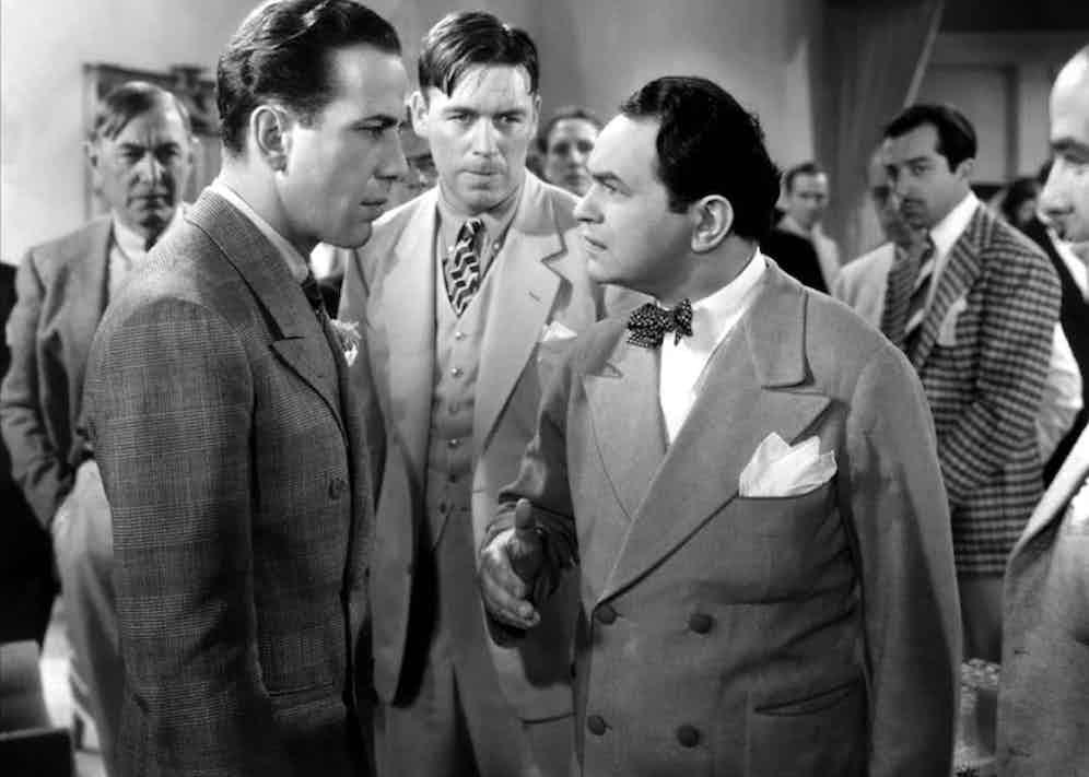 Humprhrey Bogart and Edward G. Robinson in Kid Galahad, 1937. Photo by Moviestore/REX/Shutterstock.