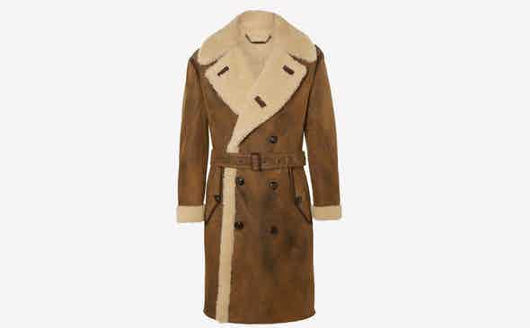 Invest: Ralph Lauren Purple Label Shearling Coat