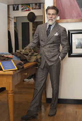 """""""I always keep the features of traditional Florentine tailoring, and my suits are often the product of ideas that have developed over the years."""" Keeping it classic is important to Mr Righi, as his identity is so central to the concept of his store. Clients that visit rely heavily on his taste and he is often praised for providing a particularly personal service."""