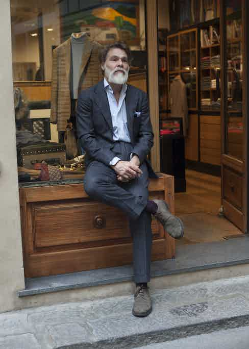 """""""I like the Cheaney Shoes from London. They have a great selection and I chose a few models for the shop – and of course for me! They are so, so comfortable. My socks are from Sozzi or Palatino and I like them to contrast a little with what I wear."""""""