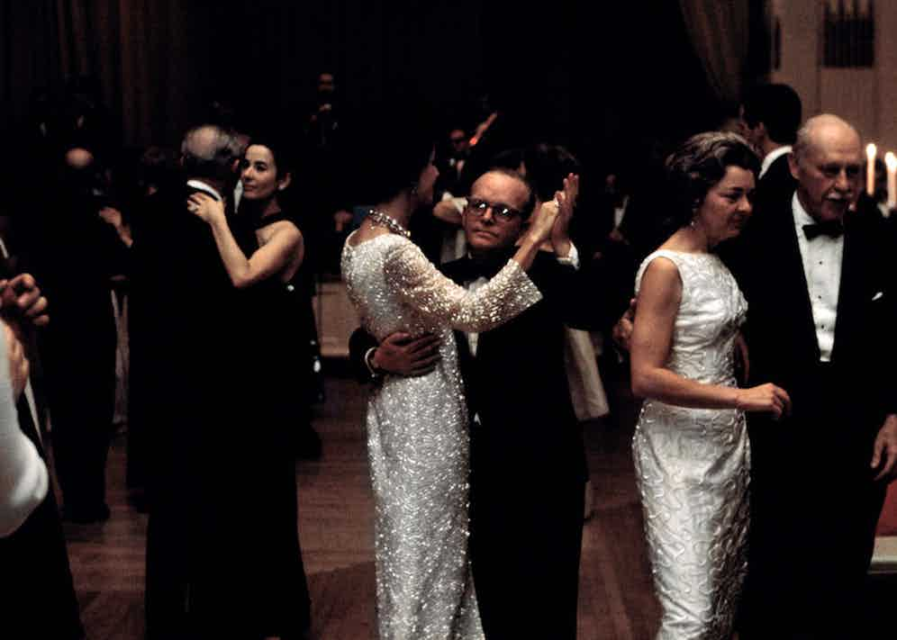 """Truman Capote's """"Black and White Ball"""" at the Plaza Hotel. Photo by Elliott Erwitt courtesy of Magnum Photos."""