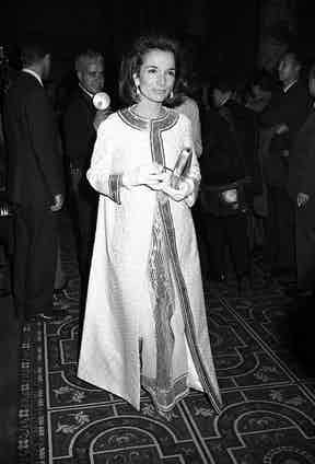 Lee Radziwill arriving at Truman Capote's Black and White Ball in the Grand Ballroom at the Plaza Hotel in New York City 1966 Black and White Ball, New York. Photo by Morrison Ray Scotty/Penske/REX/Shutterstock.
