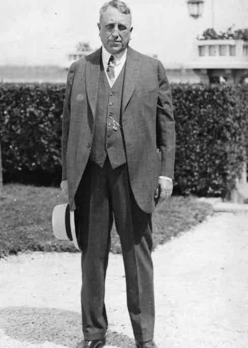 William Randolph Hearst, the American newspaper proprietor, circa 1940. Photo by Hulton Archive/Getty Images.