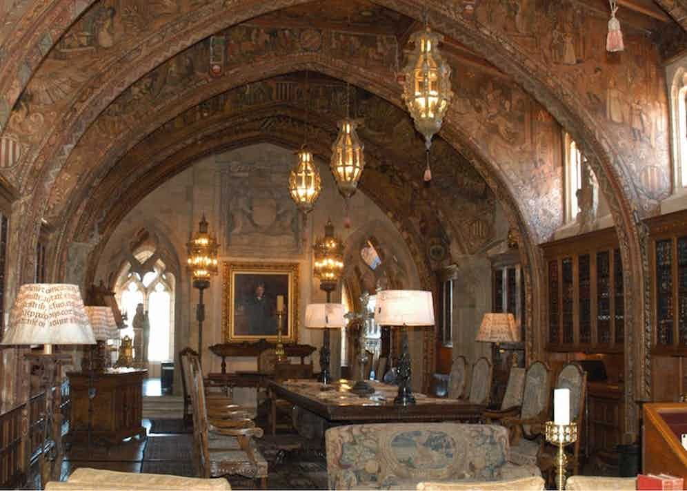 Ornate room in Hearst Castle, the palatial estate built by newspaper magnate William Randolph Hearst in 1919. Photo by KPA/Zuma/REX/Shutterstock.