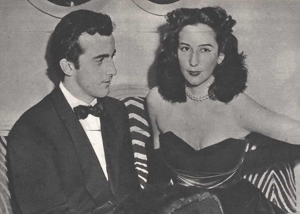 Alessandro Ruspoli with his wife Francesca dei Baroni Blanc, Epoca magazine 1953.