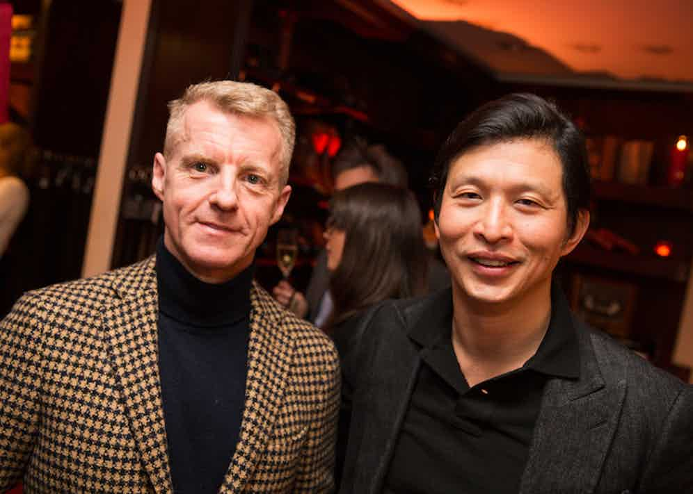 New & Lingwood's Product & Marketing Director Simon Maloney and The Rake's Founder Wei Koh.