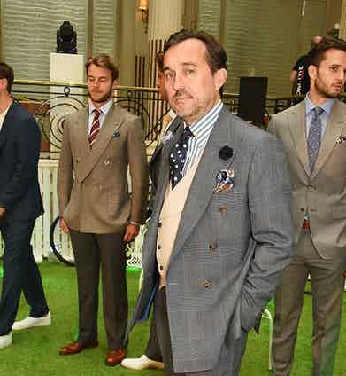 Christopher Modoo at the Chester Barrie presentation during The London Collections Men SS17 on June 12, 2016 in London, England.
